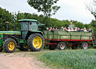 Tractor drive on a research farm