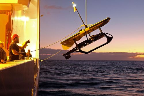 Launching the wave-glider