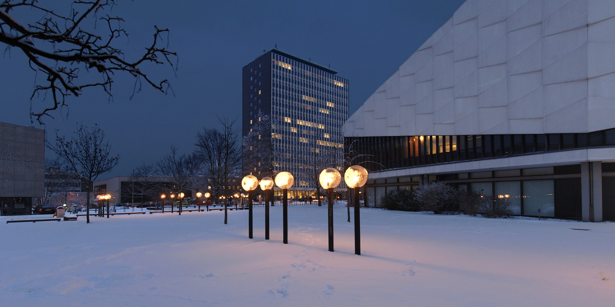 Audimax in winter