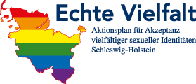 Logo: Genuine Diversity: Action Plan for the Acceptance of Diverse Sexual Identities Schleswig-Holstein