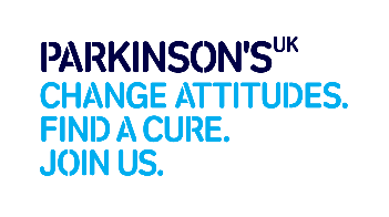Logo: Parkinson's UK. Chanage Attitudes. Find a cure. Join us.