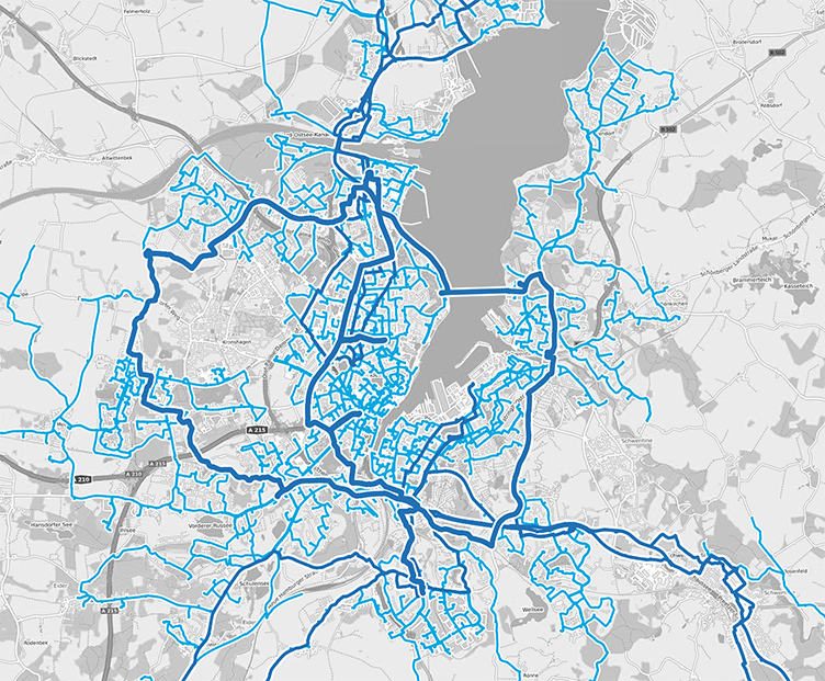 Overview of the electricity network of Kiel