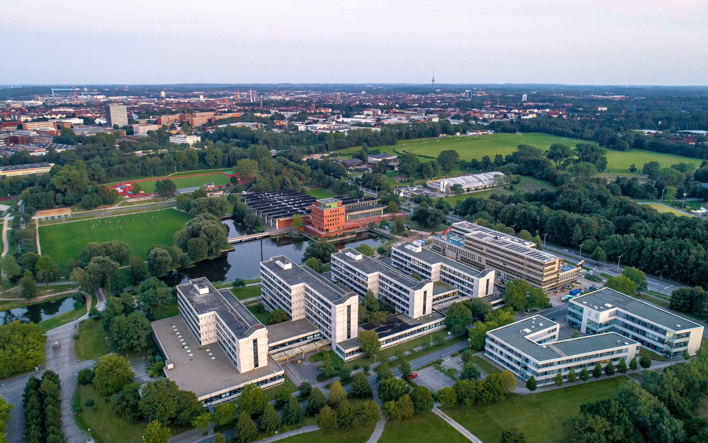 Aerial view on the faculty blocks