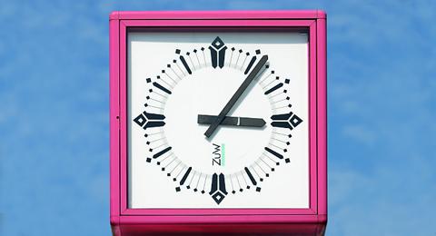 Das Bild zeigt eine Uhr