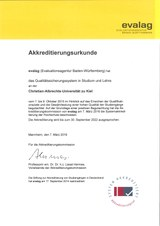 Urkunde Systemakkreditierung